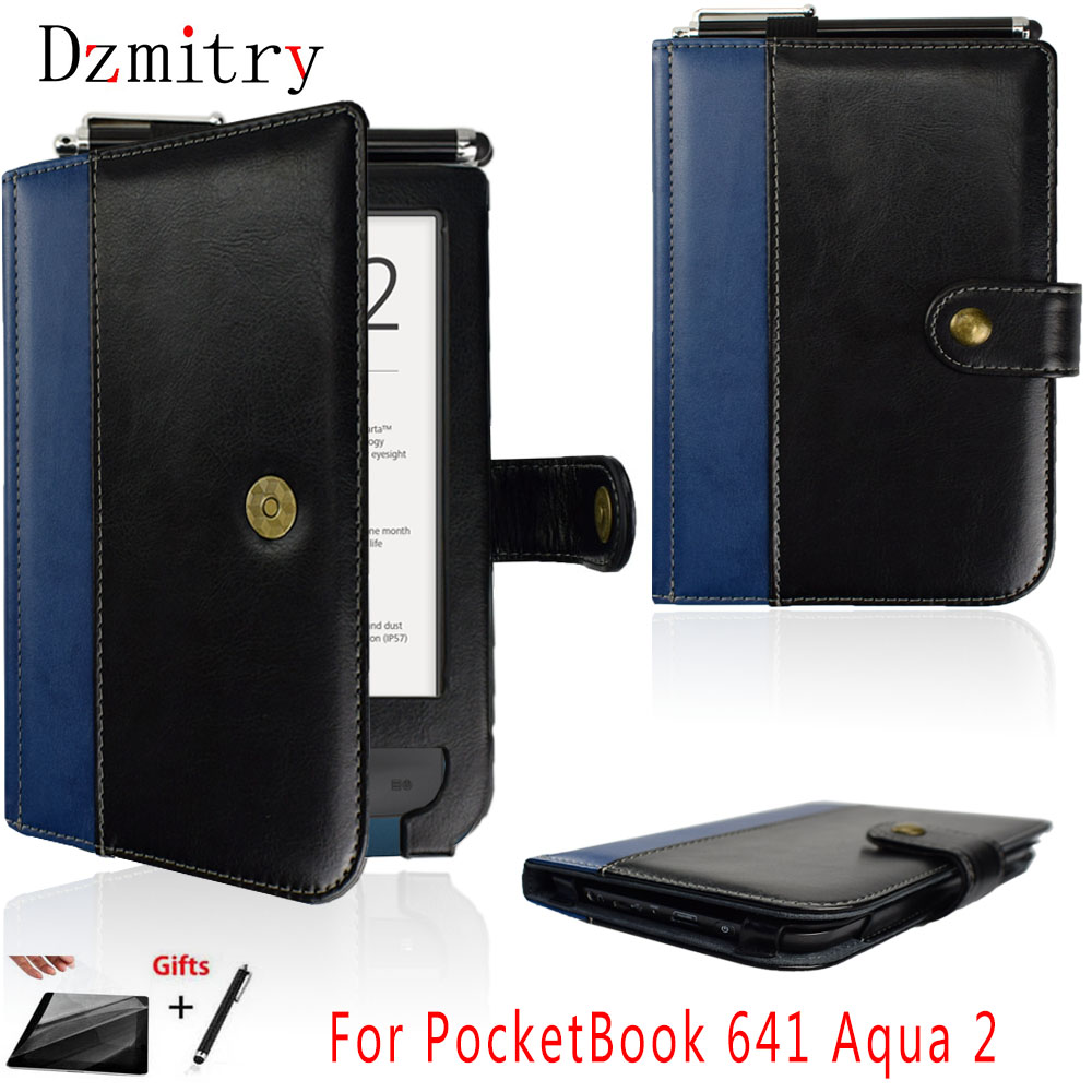 Book-Cover Stylus-Pen Pocketbook 641 2-Ereader 6inch-Pouch Pu For With Magnetic