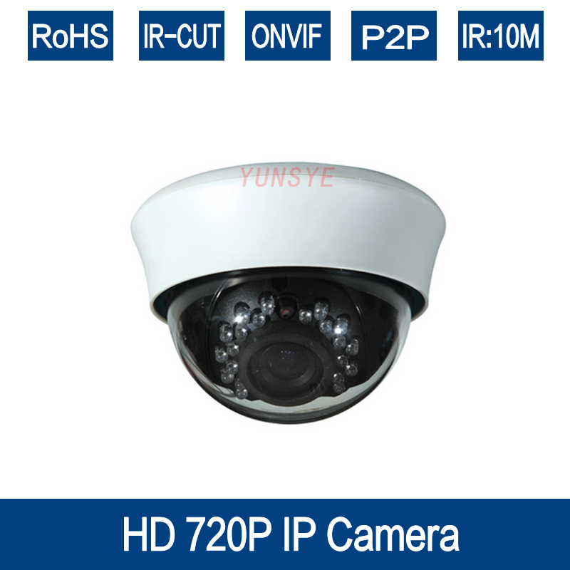 YUNSYE HD IP Camera 720P  Surveillance Indoor Dome Cam 1MP CCTV IP Security Camera Network Onvif 2.0 P2P XMEye Android iPhone 720p hd ip camera poe onvif 3 6mm lens ir cctv security surveillance camera 1 0mp network dome cameras xmeye app xmeye view