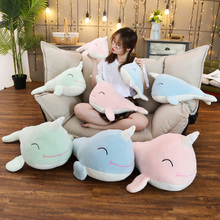New 35-70cm Cute Whale Plush Toy Soft Stuffed Kawaii Unicorn Animal Doll Pillow for Kids Children Girls Birthday Gift Room Decor