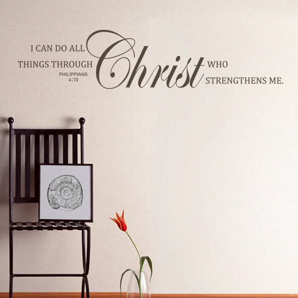 Scripture Wall Decal I can do all things through Christ Bible Verse ...