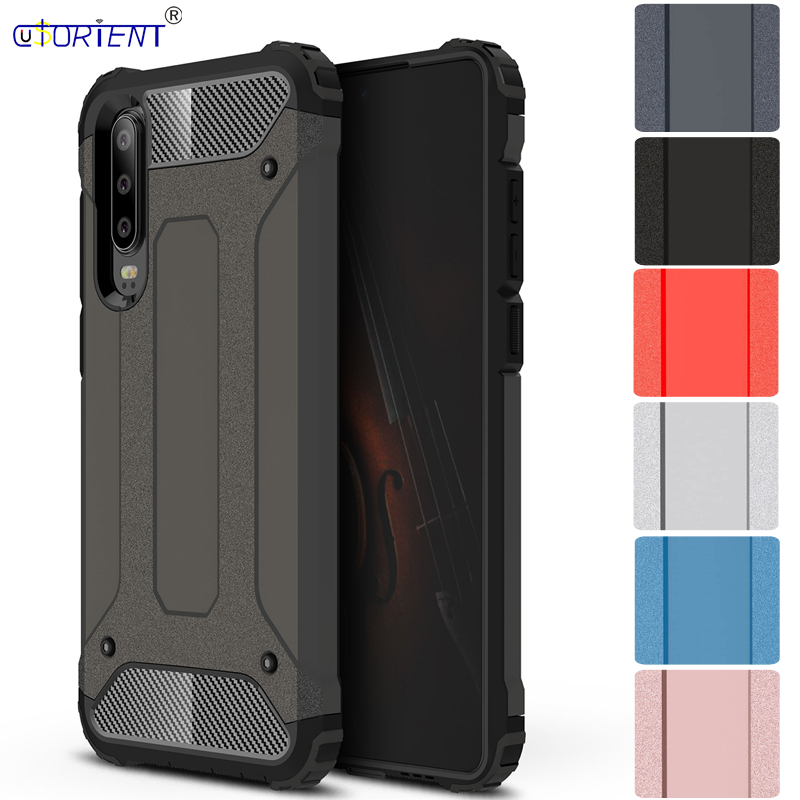 Huawei P30 Global ELE-L29 ELE-L04 Hybrid Armor Phone Cover for Huawei P30 Global ELE L29 L04 ELE_L29 Rugged hybrid 2-layer Cases