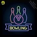 Боулинг клуб логотип эмблема неоновая вывеска неоновая световая вывеска Настоящая стеклянная трубка ручной работы магазин отель дисплей л...