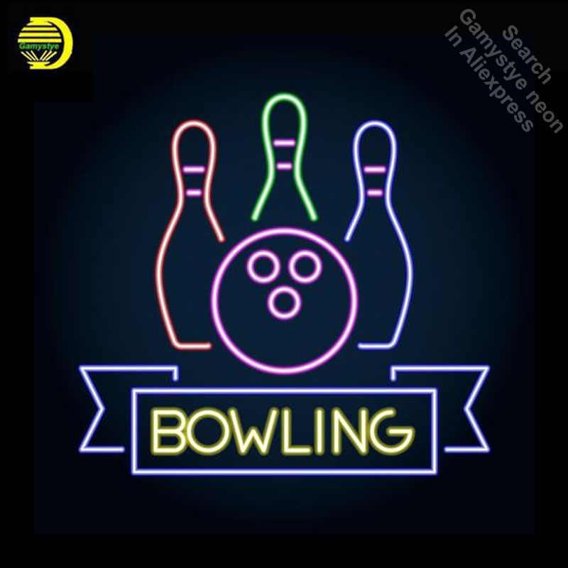 Detail Feedback Questions about Bowling Club Logo Emblem Neon ... 20e95c2b49db0