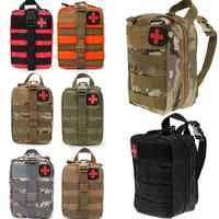 Kit de primeros auxilios de viaje al aire libre bolsa médica táctica Paquete de cintura multifuncional Camping escalada caso de emergencia Kits de supervivencia