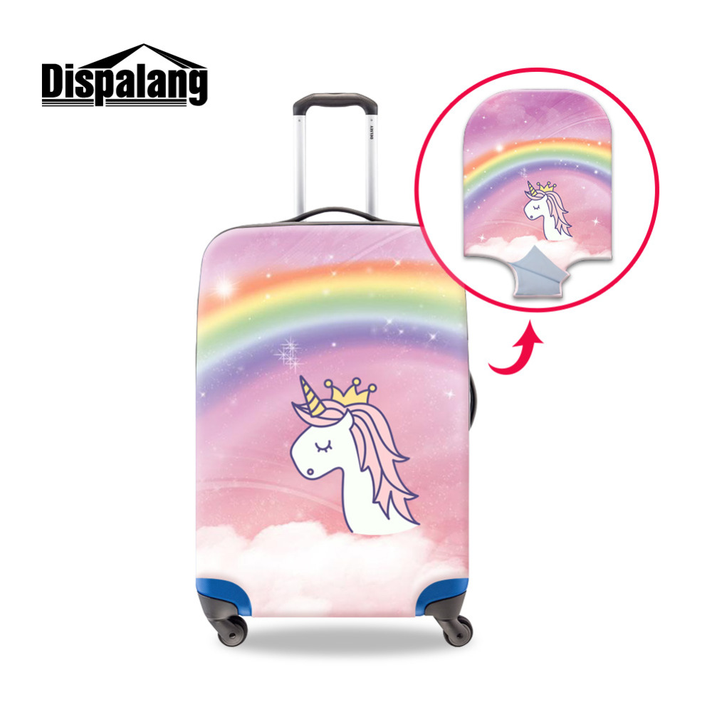 Dispalang Cartoon Women's Luggage Cover Unicorn Suitcase Protective Dust Covers for 18-30 Inch Trolley Case Travel Accessories