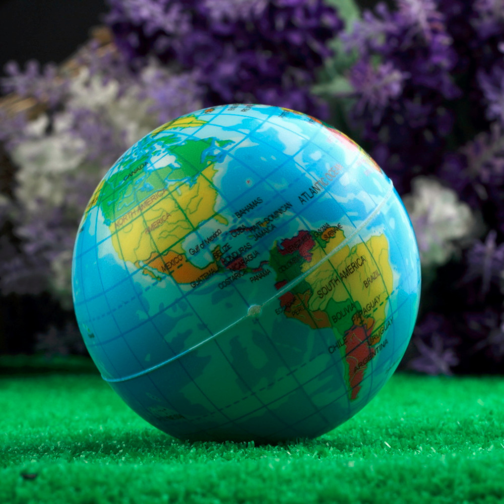 Hot world map foam earth globe stress relief bouncy ball atlas world map foam earth globe stress relief bouncy ball atlas geography toy th092 new sale in toy balls from toys hobbies on aliexpress alibaba group gumiabroncs Gallery