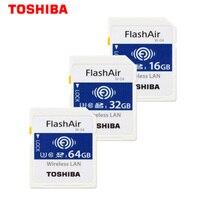 Toshiba WIFI SD Card 16GB/32GB/64GB SDHC SDXC Memory Card U3 Wireless WIFI FlashAir W 04 Class10 Digital SD Memoria for Camera