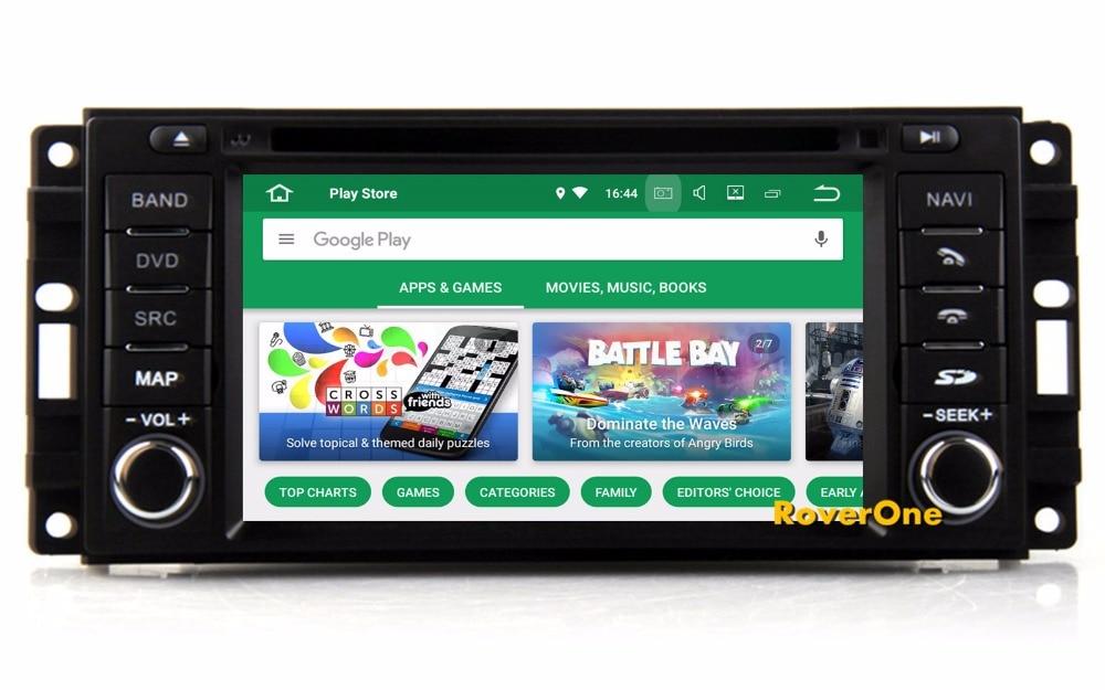 RoverOne Android 8.0 Octa Core Voiture Radio DVD GPS Navigation Pour Dodge Magnum RAM 1500 2500 3500 4500 Nitro Calibre caravane
