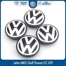 4 pçs/set OEM 63/65mm Tampa Do Cubo Da Roda Cap Centro Logo Emblema Emblema para VW Volkswagen Jetta Golf Passat MK5 3B7 601 171