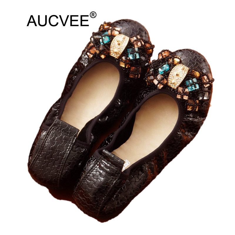 Women's Casual Genuine Leather Shoes Woman Loafers Slip-On Female Flats Moccasins Lady Driving Shoe Big Bead Bow Mother Footwear new genuine leather women s casual shoes slip on woman flat shoe flexible women loafers moccasins female footwear big size 35 40