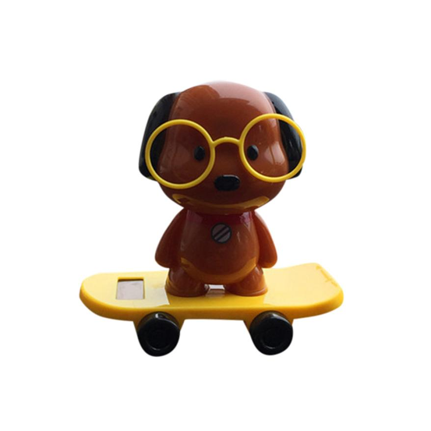 Car-styling AUTO Solar Powered Dancing Animal Swinging Animated Bobble Dancer Toy Car Decor New August9