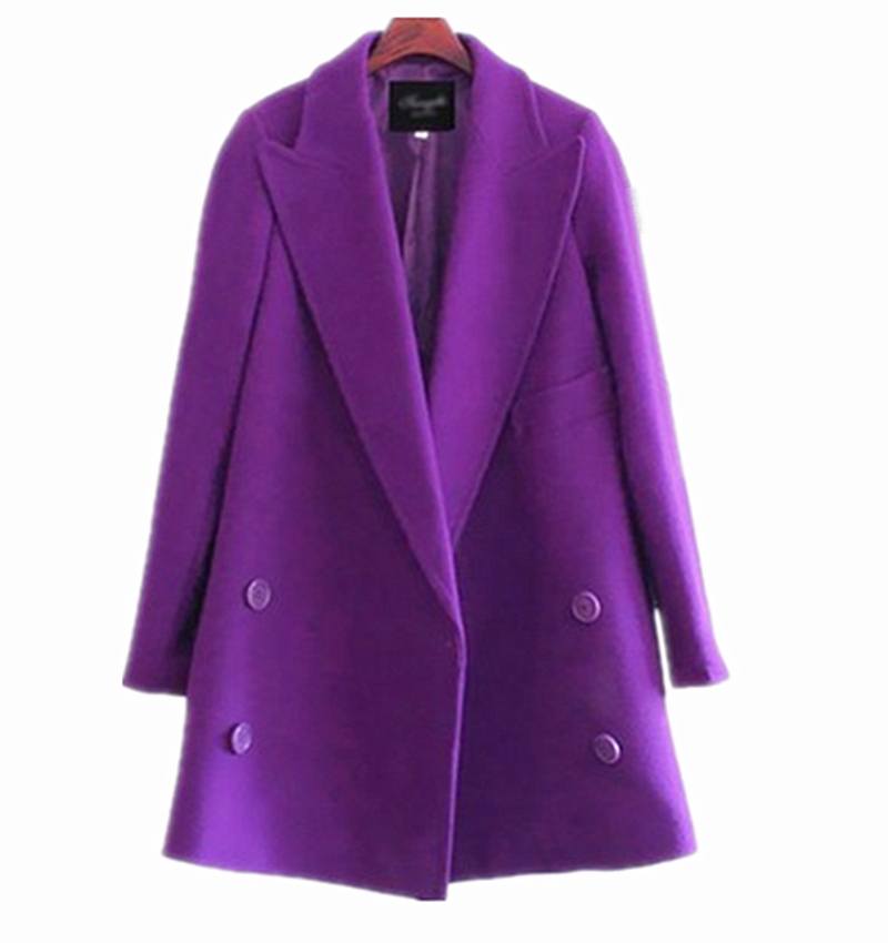 Online Buy Wholesale purple long coat from China purple long coat ...