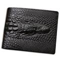 2016 Крокодиловой кожи бумажник крокодиловой кошелек скрытых кармана кошелек кожа мужчины бумажник billeteras masculinas porta moedas