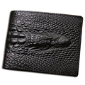 2016 Crocodile skin wallet crocodile clutch purse  hidden pocket wallet leather men wallet billeteras masculinas porta moedas