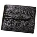 2016 Crocodilo carteira de pele de crocodilo embreagem bolsa bolso escondido carteira de couro homens carteira billeteras masculinas porta moedas