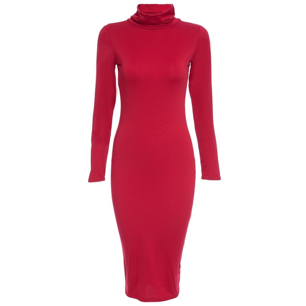 Clearance Sale 2016 Long Sleeve Knee Length Midi Dress ...