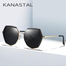 KANASTAL Polarized Mirror Sunglasses Women Brand Luxury Sun Glasses Shield For Girls Oversize Eyewear Vintage