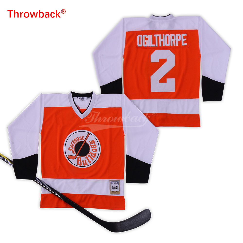 acb5108b5d6 Throwback Jersey Men's Ice Hockey Jersey 2 Ogilthorpe Jerseys Colour White  Orange Size S-XXXL Free Shipping Wholesale Cheap