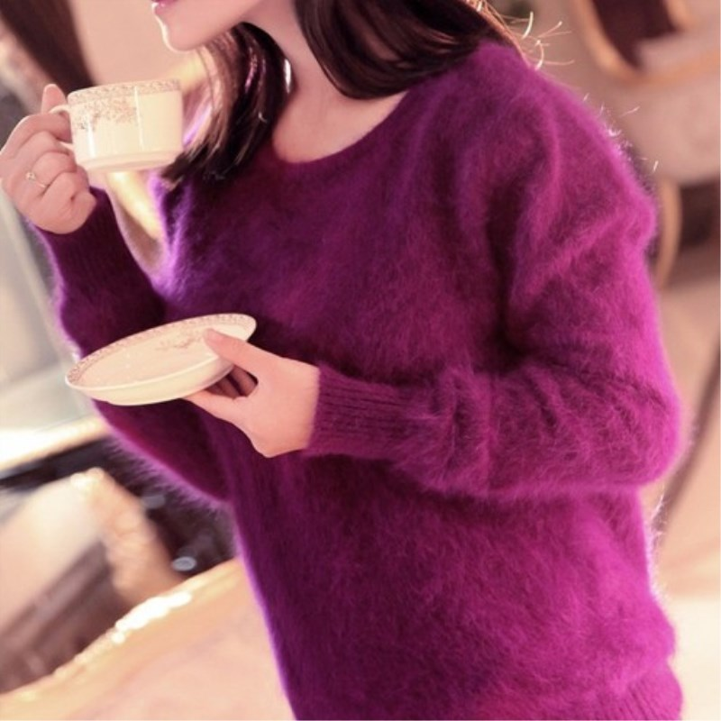 100 mink cashmere sweater women knitted sweater and pullover pure mink cashmere sweater free transport T1710