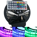 IP65/non Waterproof LED Strip 5M 300Led 5050 SMD + 12V 3A Power Adapter + 44key RGB Remote Controller / warm white tape lamp