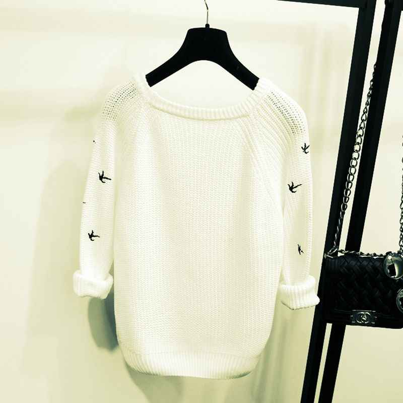 2019 Новое поступление, весна-осень, Модный женский свитер, высокое качество, Повседневные свитера, женские джемперы, пуловеры, свободные женские блузки