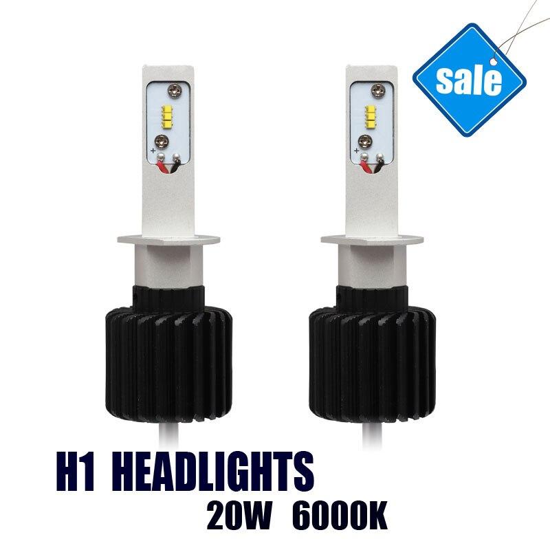 H1 Trucks Auto Headlight LED Wholesale Bright 6000K 20W LED Lamps Easy Install Car Bulbs дефлектор auto h k gt 36964