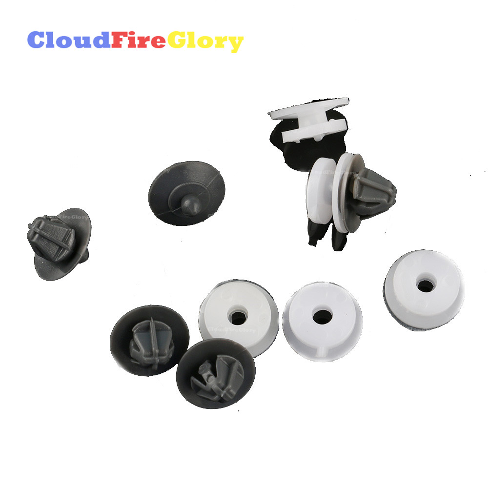 AUDI 100 80 A4 A6 A8 TT WHEEL ARCH COVER FASTENER CLIPS x10 PIECES KIT