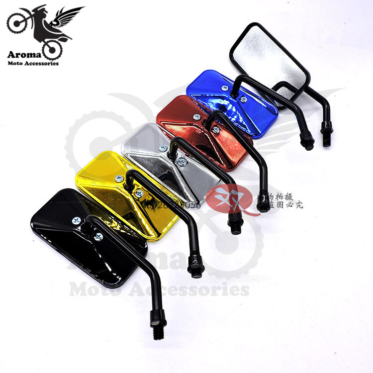 5 colors available HOT rectangle universal 8MM 10MM motorbike side mirror for honda suzuki yamahamoto rearview motorcycle mirror