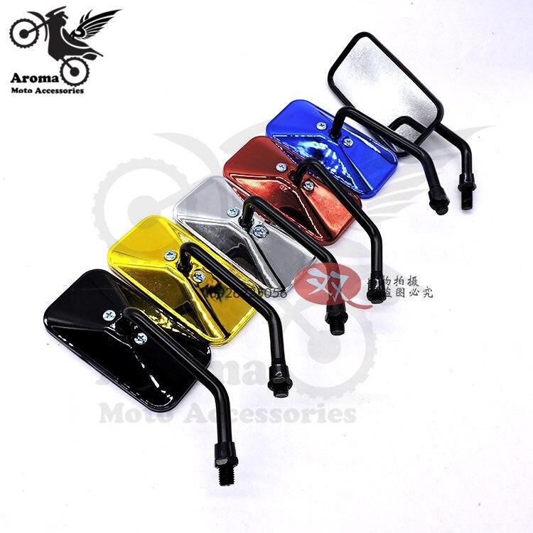 5 farben erhältlich HEIßER rechteck universal 8mm 10mm motorrad seite spiegel für honda suzuki yamahamoto rück motorrad spiegel
