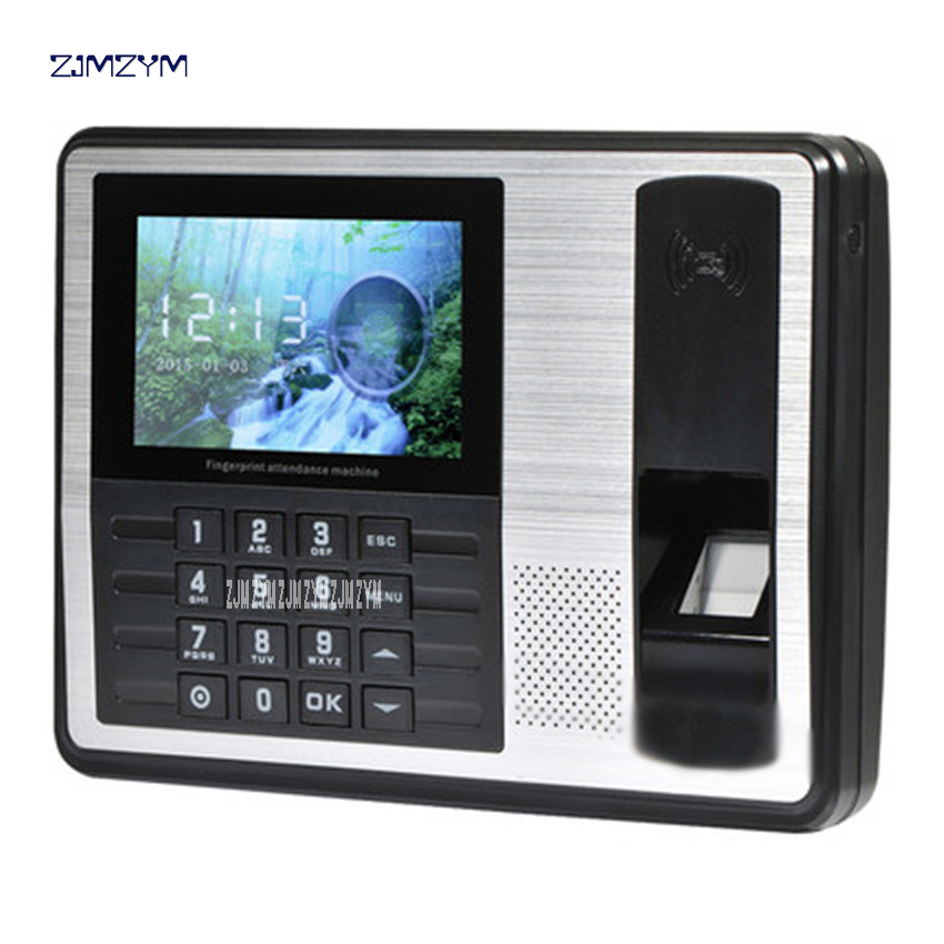 Biometric Punch Card Employee Fingerprint Time Attendance Machine ZA201 Card can be identified quickly online recognition 5V