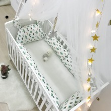 цена на Baby Cot Bed Bumper Set Newborn Crib Accessories Long Pillow For Bed Room Decor Baby Bedding Beds Linen Set Baby Products Cotton