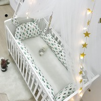 Baby Cot Bed Bumper Set Newborn Crib Accessories Long Pillow For Bed Room Decor Baby Bedding Beds Linen Set Baby Products Cotton