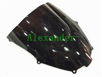 Pare-brise noir Double bulle | Pour Kawasaki ZX9R 2000 2001 2002 2003 2004 ZX 9R zx9 r 00 01 02 03 04 05, HotSale