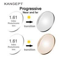 KANSEPT 1.61 Index Photochromic Grey / Brown Aspheric Prescription Brand Resin Lenses Anti UV Oil Water Reflect Glasses Lens