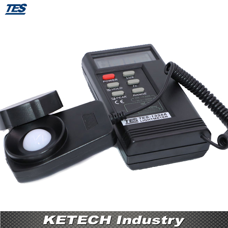 Digital Light Lux Meter (Lux,Fc Function) TES-1334A mini digital lux meter light meter lux fc measure tester