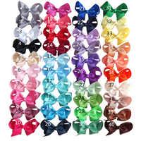4 inch Hair bow Hair clips Children Girl hair accessories Boutique grosgrain ribbon hairbows Hairpins Dancing hair bow 40PCS/LOT