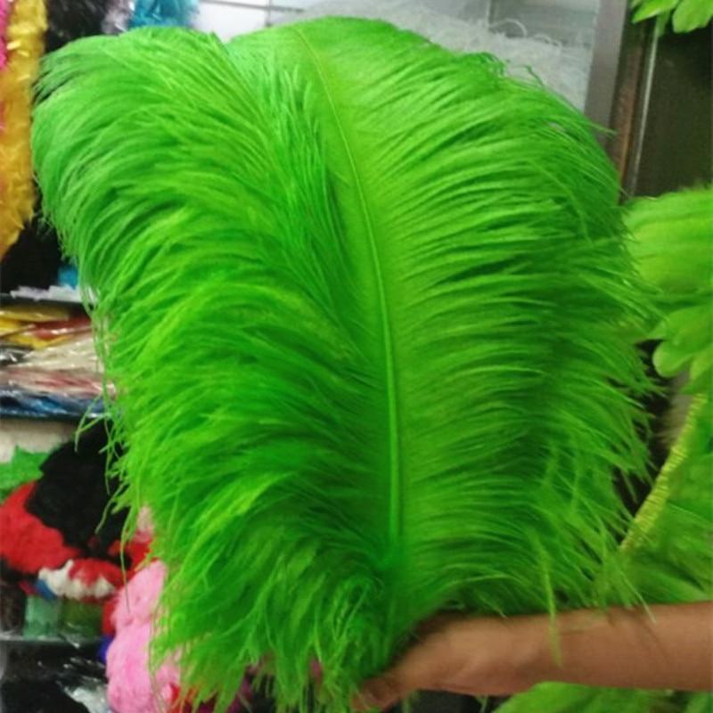 큰 극 타조 깃털 과일 녹색 깃털 10 pcs 60 65 cm/24 26 인치 결혼식 장식을위한 자연 깃털-에서깃털부터 홈 & 가든 의  그룹 1