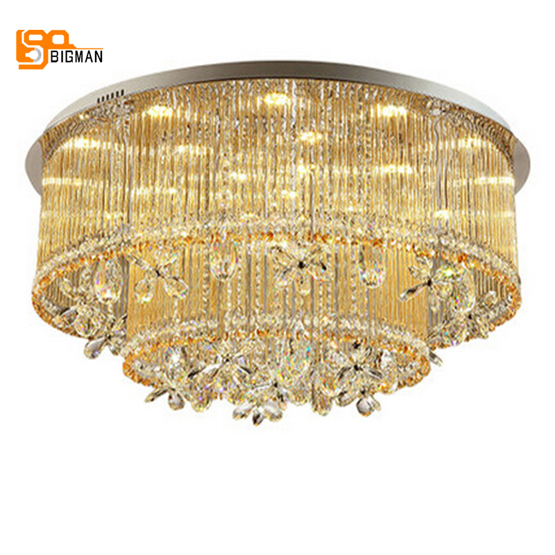 new design crystal round chandelier LED modern chandlier cristal living room lights guaranteed 100% chandlier