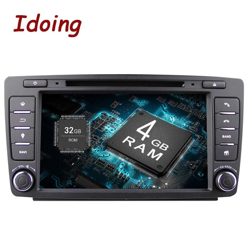 Idoing Android8.0 4G + 32 г 8 Core 2Din Рулевое колесо для Skoda Octavia 2 Автомобильный мультимедийный dvd-плеер быстрая загрузка 1080 P HDP gps + ГЛОНАСС
