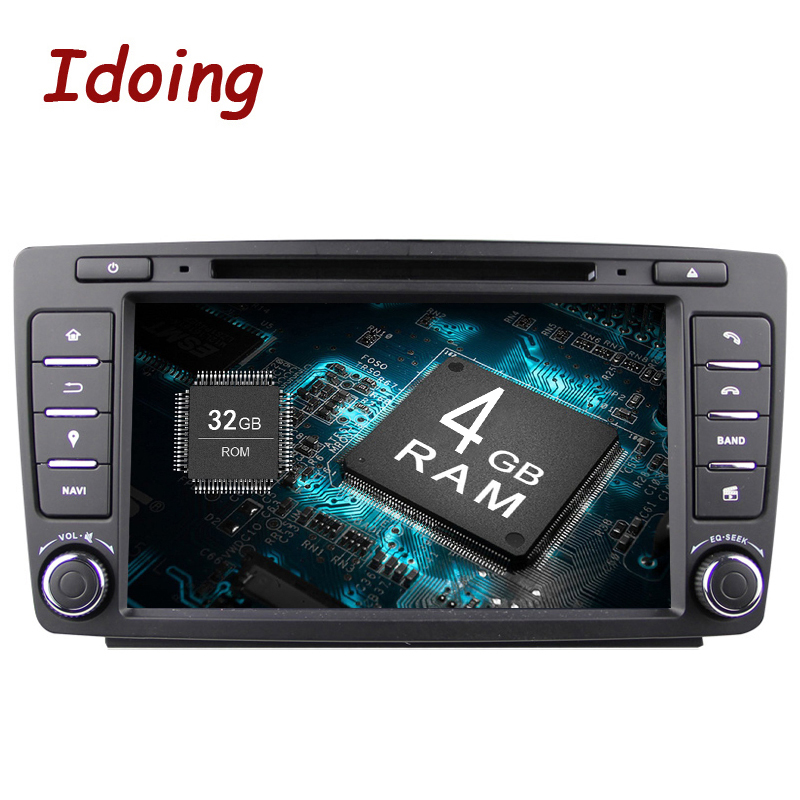 Idoing Android8.0 4G+32G 8Core 2Din Steering Wheel For Skoda Octavia 2 Car Multimedia DVD Player Fast Boot 1080P HDP GPS+Glonass