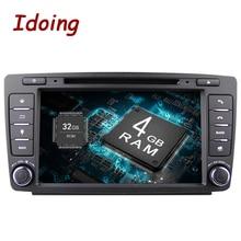 Idoing Android8.0 4 г + 32 г 8 Core 2Din руль для Skoda Octavia 2 Автомобильный мультимедийный DVD плеер быстрая загрузка 1080 P HDP gps + ГЛОНАСС