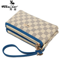 1 Piece Wallet 3 Colors Popular Two Pocket Purse Delicate Casual Lady Cash Female Wallet Ladies
