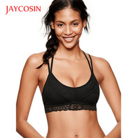 2017 Women Sexy Bralette Black Lace Push Up BraY-line Straps  Soft Underwear Solid ColorFree Shipping AU30