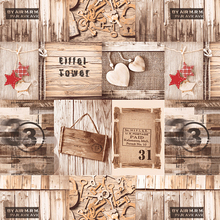 Lmitation Wood Grain Plank Wallpaper Cafe Bar Background Graffiti Korean Poster Retro Nostalgic Wallpapers