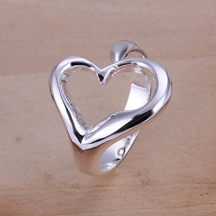 Opend Heart Ring 925 jewelry silver plated ring,high quality ,fashion jewelry, Nickle free,antiallergic R009