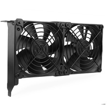 цена на YOUNUON Universal VGA Cooler Dual 90mm Ultra Quiet Desktop Computer Chassis PCI Graphics Card Double Fan Partner 9CM