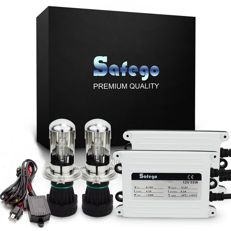 Safego 1 set AC12V 55W-HID Slim xénon HID KIT h4 bixenon kit 55 W H4 12 V AC HID automobile phare KIT pour 9004 9007 H13