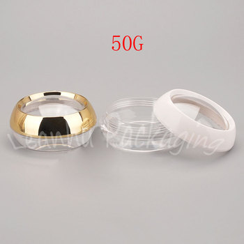 50G Mini Plastic Cream Cans , 50CC Plastic Small Cosmetic Jar , Empty Cosmetic Container , Makeup Sub-bottling ( 30 PC/Lot )