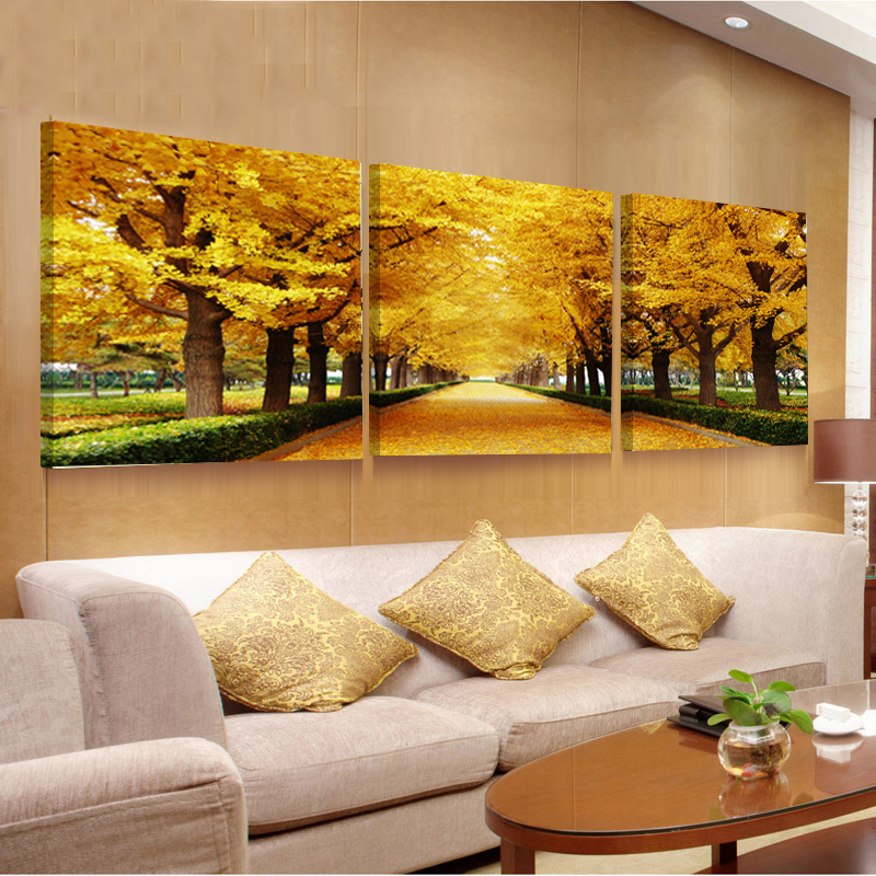 3 Piece Flower Paintings Canvas Hd Print Wall Art Oil Pictures ...
