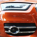 O Envio gratuito de Alta Qualidade ABS Frente Chrome nevoeiro tampa Guarnição sombra luz de nevoeiro da Guarnição Para Audi Q3